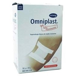 Omniplast Esparadrapo Hipoalergico Tela 10X10 (10 M X 10 CM) Blanco