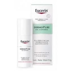 Eucerin Huile dermopure Control Matte Hydratant liquide facial 50Ml