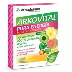 Arkovital Pure Energy Multivitamines 30 Comprimés