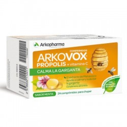 Arkovox Propolis + Vitamin C 24 Pfeffersaugtabletten
