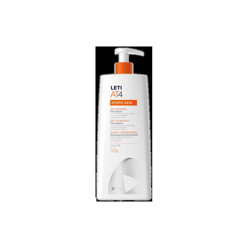 Leti  AT4 gel de baño dermograso  750 ml + GRATIS crema corporal 50 ml