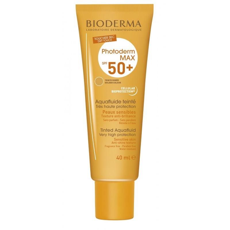 Bioderma Photoderm MAX AquaFluide Dorado SPF 50 UVA26 Tubo 40 ml