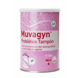 Muvagyn Probiotico Tampon Tamaño Mini con Aplicador 9 Uds