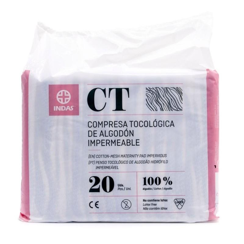 Maternity Compresas tocológicas de algodón 20 unidades