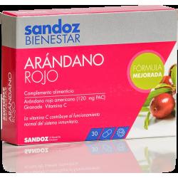 Sandoz Bienestar Arandano Rojo 30 Capsulas