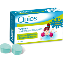 Quies Children's Swimming Silicone Plugs 3 Pairs