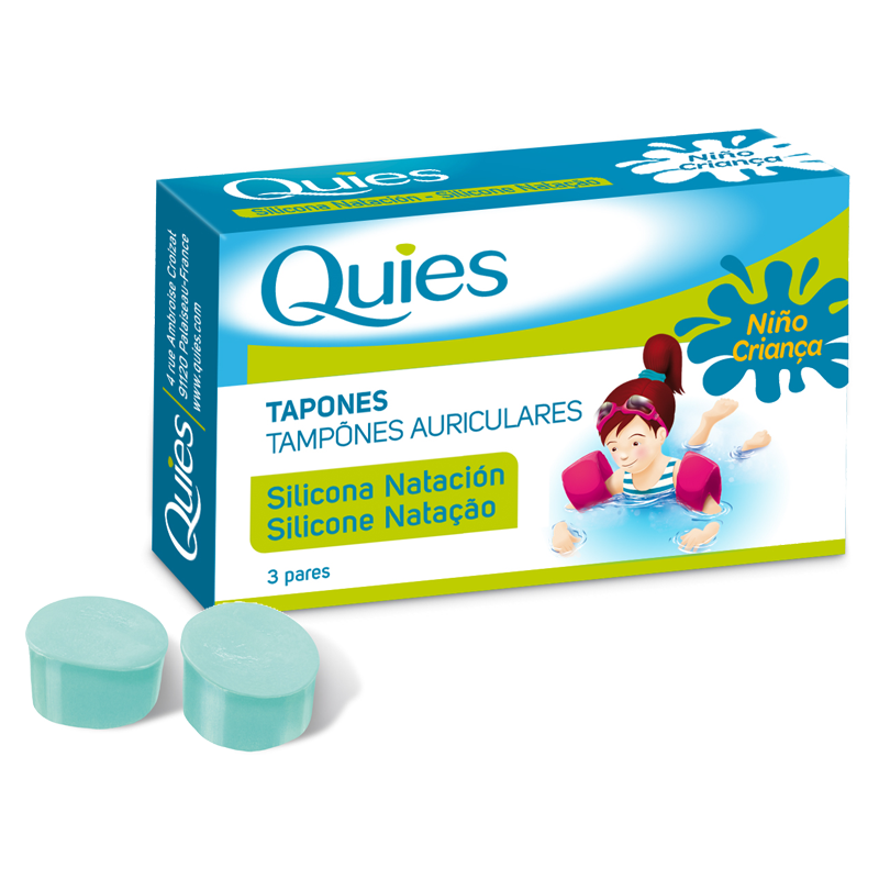 Quies Tapones Silicona natiación infantil 3 pares