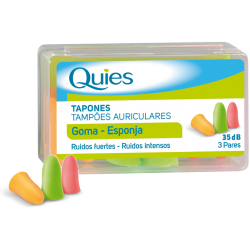 Quies Plugs Caoutchouc Couleurs 3 Paires