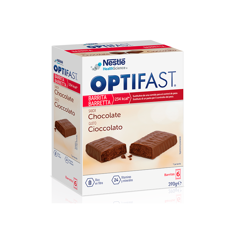 OPTIFAST BARRITAS   6Uds de 70 Gr. CHOCOLATE