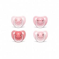 Suavinex Chupete Tetina Anatomica Latex 6-18 Mois Rose 2 Unités