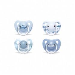 Suavinex Chupete Tetina Anatomica Latex 6-18 Monate Blau 2 Einheiten