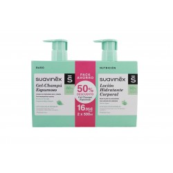 Suavinex 500ml Feuchtigkeitslotion Pack + 500ml Sparkling Champu Gel