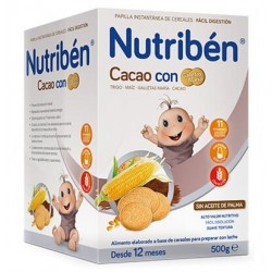 Nutriben Cocoa Porridge with Cookies Maria 500 gr