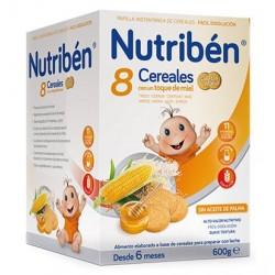 Nutriben 8 Cereales Miel Galleta 600GR