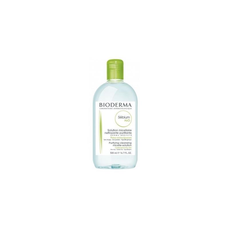 BIODERMA Sébium H2O  Solución micelar específica acné  promocional Frasco 500 ml
