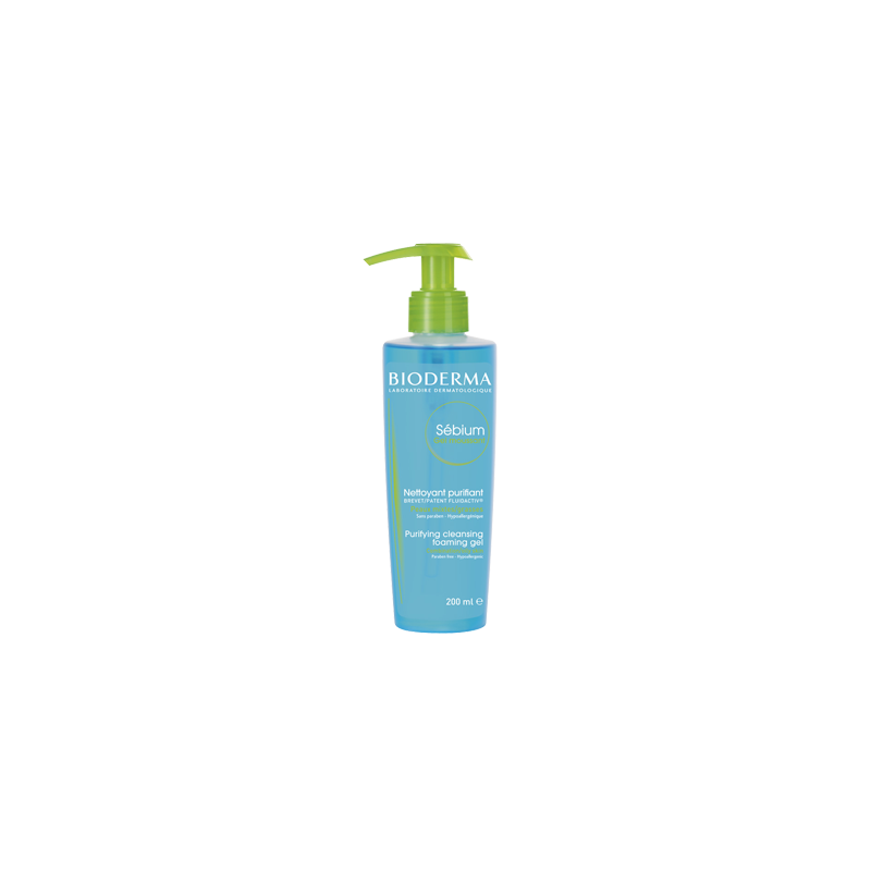 BIODERMA Sébium Gel Moussant  Limpieza específica sin detergente  Disp. 200 ml