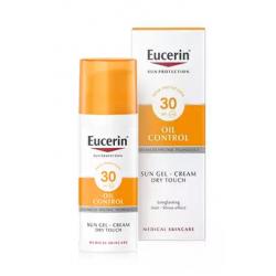 Eucerin Huile de crème de gel solaire Control Dry Touch SPF30 50ml