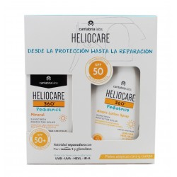 Heliocare 360 Pédiatrie Pack Minéral SPF50 50ml + Lotion Atopic Spray SPF50 250ml