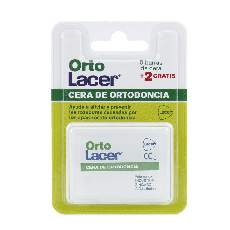 Lacer cera de ortodoncia 7 barras