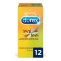 Durex preservativos real feel 12 unid.