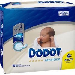 Dodot Plus Sensitive T1 2-5K 30Unidades