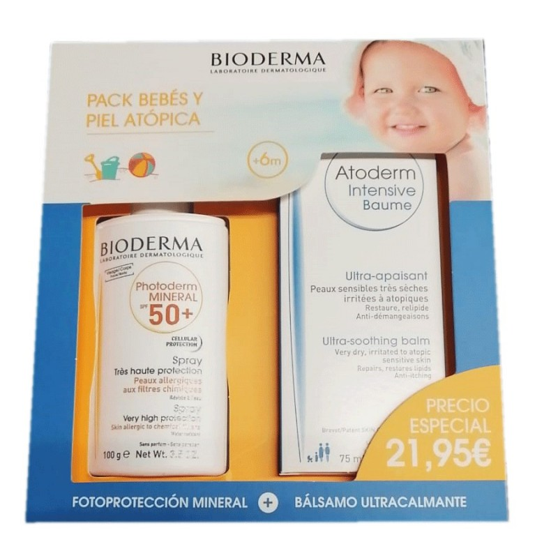 Bioderma Atoderm Crema Pack Cuidado diario Disp. 500 ml + 500 ml