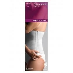 Farmalastic Faja Algodon Velcro Blanca t2