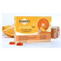 Juanola Propolis con Miel. Altea y Vitamina C 24 Pastillas
