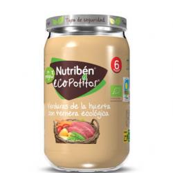 Nutriben Eco Potito Verduras de la Huerta con Ternera Ecológica 235GR