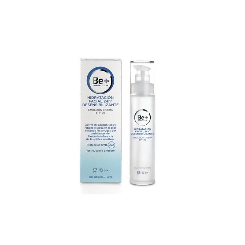 Be+ 24h Emulsion facial ligera desensibilizante SPF 20 50 ml