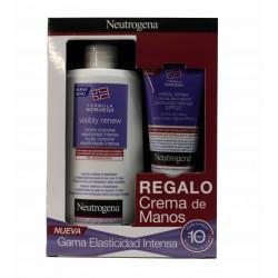 Neutrogena PACK visibly renew elasticidad intensa Loción orporal 400 ml + Crema de manos spf 20 75 ml