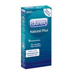 Durex Condoms Natural Plus 6 pcs.