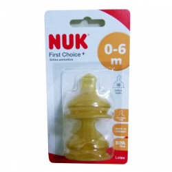 NUK FIRST CHOICE TETINA LATEX LECHE T-1 M 2 U