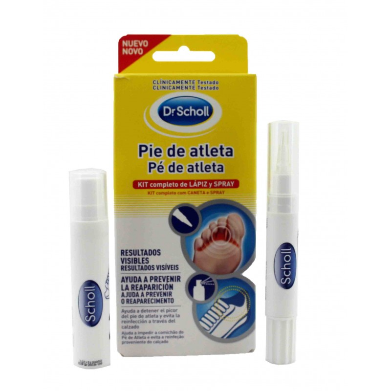 Scholl pie de atleta lápiz 4 ml + spray 10 ml
