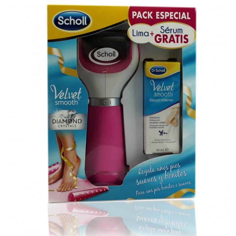 Scholl Lima  Velvet Smooth Feet Pink + Free Intensive Foot Serum 30 ml