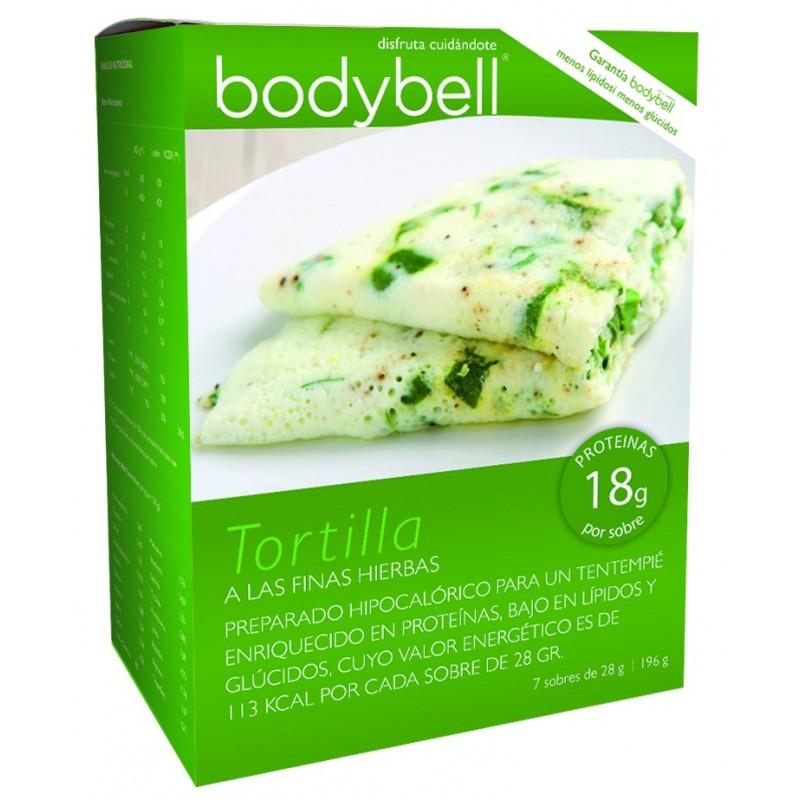 Bodybell Tortilla Finas Hierbas Caja 7 Sobres