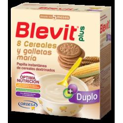 Blevit Plus 8 Getreide und Kekse Double 600 Gramm