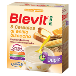 Blevit Plus Duplo 8 Cereals  Cake + Orange 600Gr