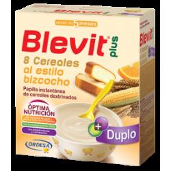 Blevit Plus Duplo 8 Cereali  Torta + Arancio 600Gr
