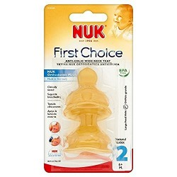 NUK FIRST CHOICE TETINA LATEX ALIMENTO T-2 L 2 U