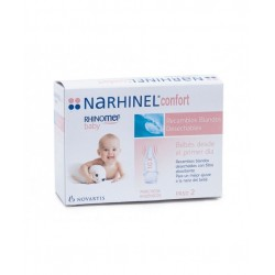 Rhinomer Baby Narhinel Comfort Nasal Vacuum Cleaner 10 Disposable Soft Spare Parts