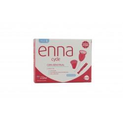 Enna 2 coupes menstruelles et stérilisateurs et Applicateur S de taille