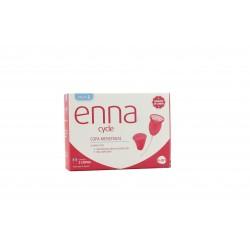 Enna 2 copos menstruais + esterilizador de tamanho L