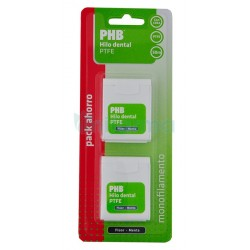 Phb filo interdentale Ptfe Fluor and Mint pack 2x 50 m