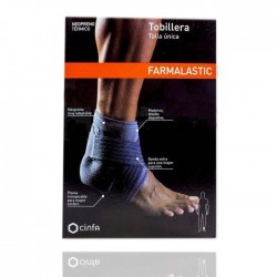 Farmalastic Tobillera Neopreno Gris t- Unica