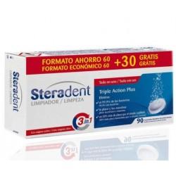 Steradent Triple Action Plus 60 pilules de nettoyage 30 Gratuit