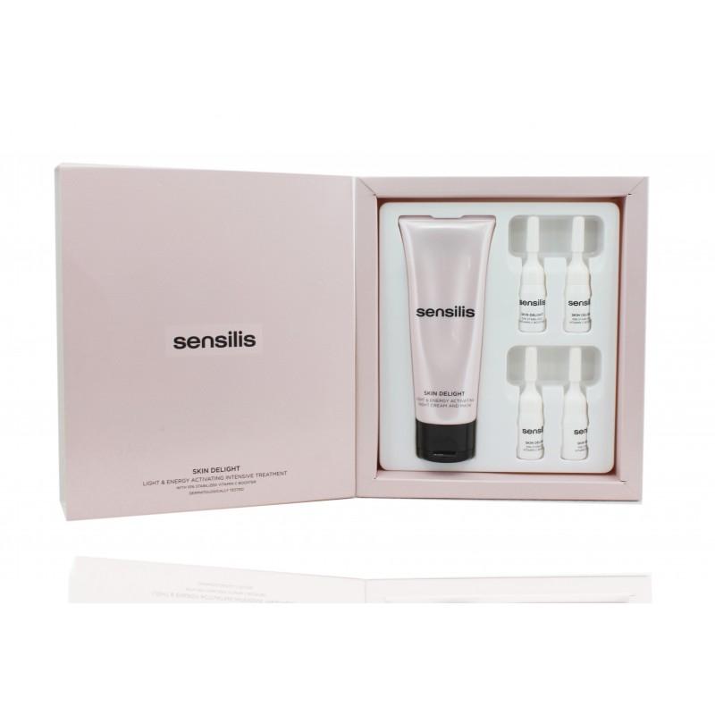 Sensilis Skin Delight tratamiento noche crema + viales vitamina C