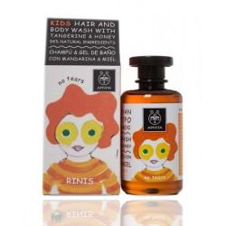 Apivita Kinder Shampoo und Badegel für Kinder Mandarine & Honig 250 ml