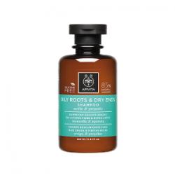 Apivita Grease Root Balancing Shampoo and Dry Tips 250 ml