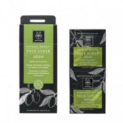 Apivita Express Beauty Peeling Gesichtscreme mit Olivenöl 2x8ml